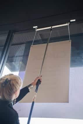 Easy-up Interior signage hanging system
