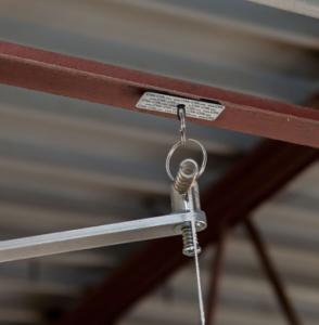 Interior signage hanging system