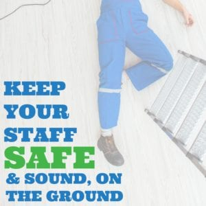 Keep Your Staff Safe | Ceiling Banner Hanging Systems