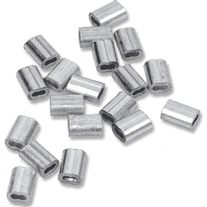 E-Z Aluminum Crimp for Steel Cable (100/Bag)