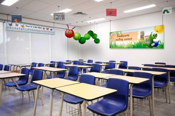 Ceiling Sign Hanging Solutions for educations and schools
