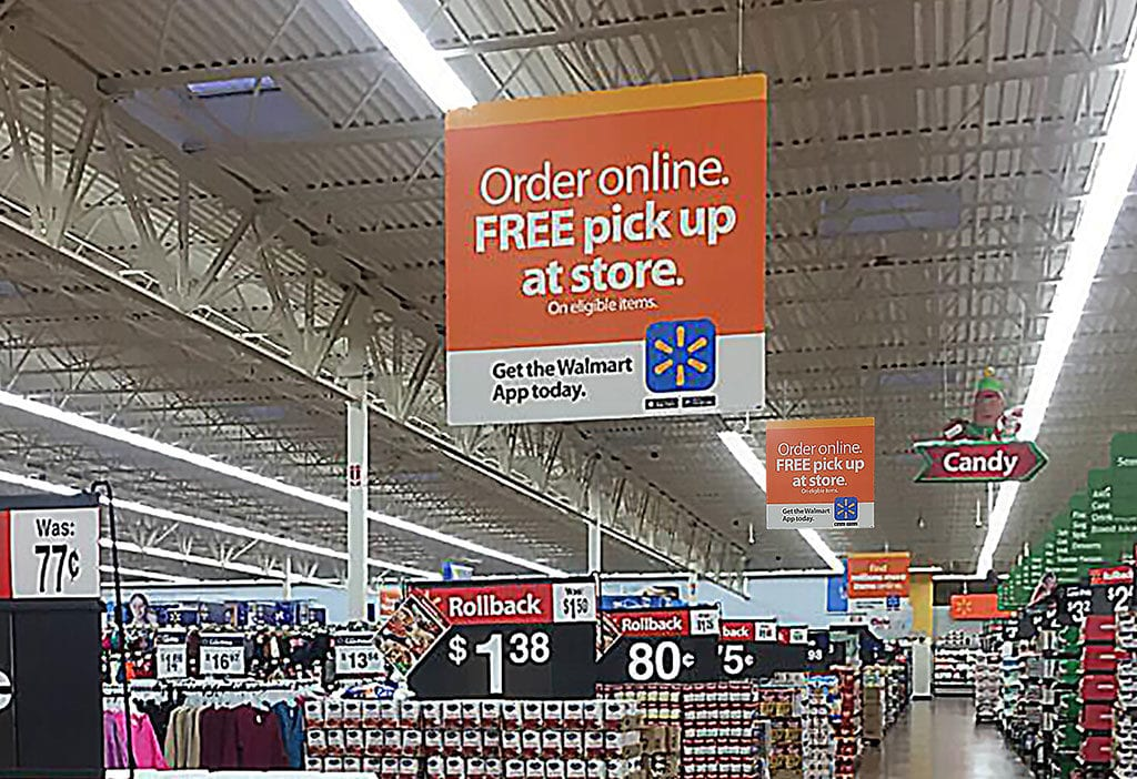 Retail Ceiling Sign Hanging Systems