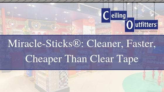 Miracle-Sticks®: Cleaner, Faster, Cheaper Than Clear Tape