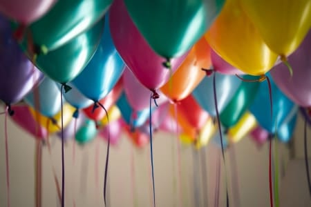 Balloons Filled with Helium