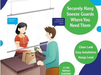 Hanging Sneeze Guard Kits